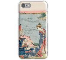 Katsushika Hokusai - Woodcut 1806 . Japanese Romance . Love iPhone Case/Skin