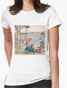 Katsushika Hokusai - Woodcut 1806 . Japanese Romance . Love Womens Fitted T-Shirt