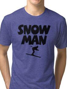 Snowman Ski Tri-blend T-Shirt