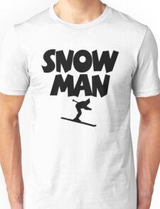 Snowman Ski Unisex T-Shirt