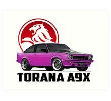 Holden Torana - A9X Hatchback - Pink 2 Art Print