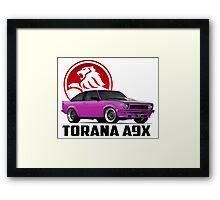 Holden Torana - A9X Hatchback - Pink 2 Framed Print