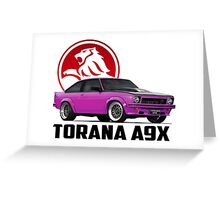 Holden Torana - A9X Hatchback - Pink 2 Greeting Card