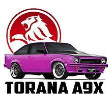 Holden Torana - A9X Hatchback - Pink 2 Photographic Print