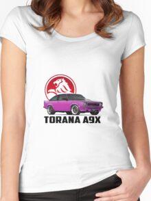 Holden Torana - A9X Hatchback - Pink 2 Women's Fitted Scoop T-Shirt