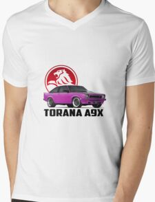 Holden Torana - A9X Hatchback - Pink 2 Mens V-Neck T-Shirt