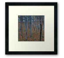 Klimt - Beech Grove . Gustav Klimt - Landscape . Austrian Trees Framed Print
