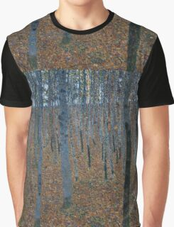 Klimt - Beech Grove . Gustav Klimt - Landscape . Austrian Trees Graphic T-Shirt
