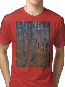 Klimt - Beech Grove . Gustav Klimt - Landscape . Austrian Trees Tri-blend T-Shirt