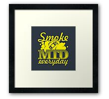 Smoke Mid Everyday - Stamp Version Framed Print