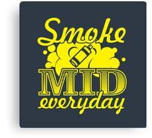 Smoke Mid Everyday - Stamp Version Canvas Print
