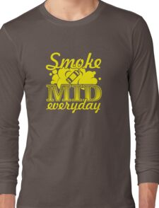 Smoke Mid Everyday - Stamp Version Long Sleeve T-Shirt
