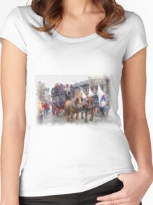 Sight Seeing - Antwerp Women's Fitted Scoop T-Shirt