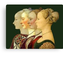 Souvenir from Italy - Pollaiolo's portraits Canvas Print
