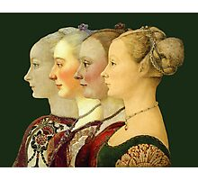 Souvenir from Italy - Pollaiolo's portraits Photographic Print