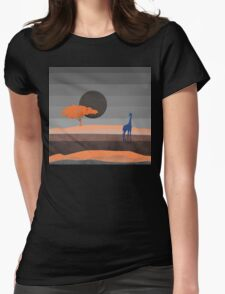 Giraffe, you are not alone Womens Fitted T-Shirt