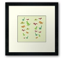 Dinosaurs pattern set elements vector kid style legging  Framed Print