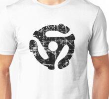 45 R.P.M. Record Adaptor Vintage Black Unisex T-Shirt