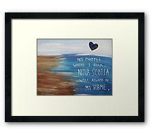 Nova Scotia Home Framed Print