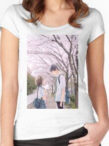 Love under the Sakura trees Women's Fitted Scoop T-Shirt