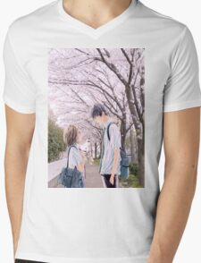 Love under the Sakura trees Mens V-Neck T-Shirt