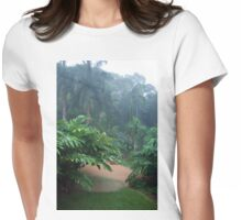 Tropical Rain & Garden Flood Waters  Womens Fitted T-Shirt