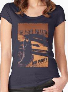 No sahid Hulu No Party  Women's Fitted Scoop T-Shirt
