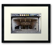 Canal Street Station Framed Print