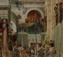 Lawrence Alma-Tadema - Spring 1894  , Roman Street.  Sticker