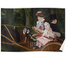 Mary Cassatt - A Woman and a Girl Driving 1881 Poster