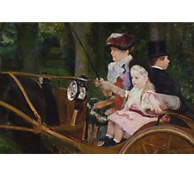 Mary Cassatt - A Woman and a Girl Driving 1881, American Impressionism  Photographic Print