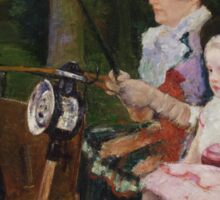 Mary Cassatt - A Woman and a Girl Driving 1881, American Impressionism  Sticker