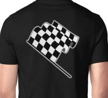MOTOR SPORT, Racing Cars, Race, Checkered Flag, Flutter, WIN, WINNER, Chequered Flag, Finish line, BLACK Unisex T-Shirt