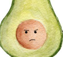 Little fatty avocado. Watercolor Sticker
