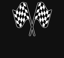 MOTOR SPORT, Racing Cars, Race, Checkered Flag, Le Mans,Flutter, WIN, WINNER, Chequered Flag, Double, Finish line, BLACK Unisex T-Shirt