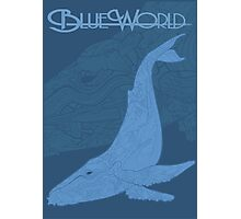 Blue World is Blue Photographic Print