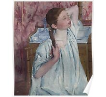 Mary Cassatt - Girl Arranging Her Hair 1886 American Impressionism  Poster