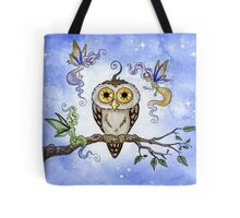 Hootie the Owl Meets Some Faeries Tote Bag