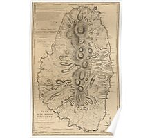 American Revolutionary War Era Maps 1750-1786 786 Plan of the island of St Vincent laid down by actual survey under the direction of the Honorable the Poster