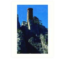 Castle on the rock Art Print
