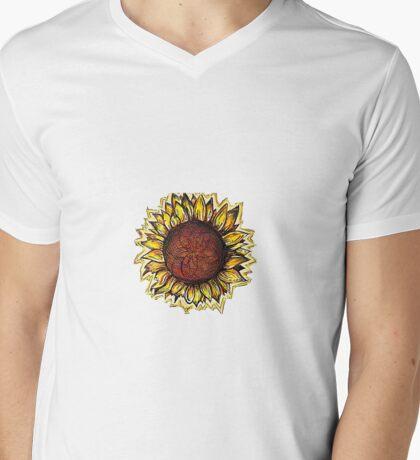 HELIANTHUS Mens V-Neck T-Shirt