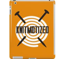 Knitmotized spiral ball of yarn knitting needles iPad Case/Skin