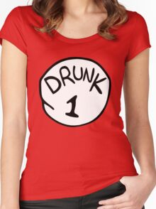 Drunk 1 Women's Fitted Scoop T-Shirt