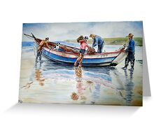 North Shields Coble c1900 Greeting Card