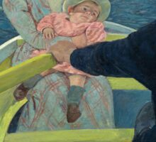 Mary Cassatt - The Boating Party 1893 - 1894 , American Impressionism  Sticker