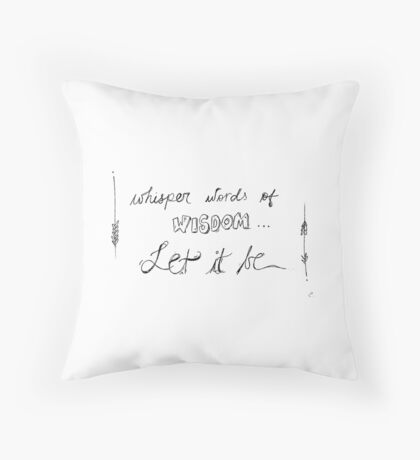 Beatles Let it Be Throw Pillow