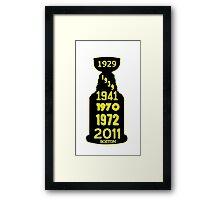 Boston Bruins Stanley Cup Winning Years Framed Print