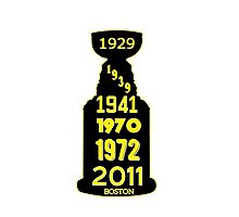 Boston Bruins Stanley Cup Winning Years Photographic Print
