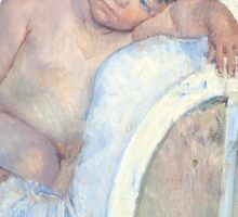 Mary Cassatt - Woman Sitting with a Child in Her Arms -1890 Sticker