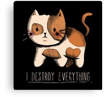 I destroy everything Canvas Print